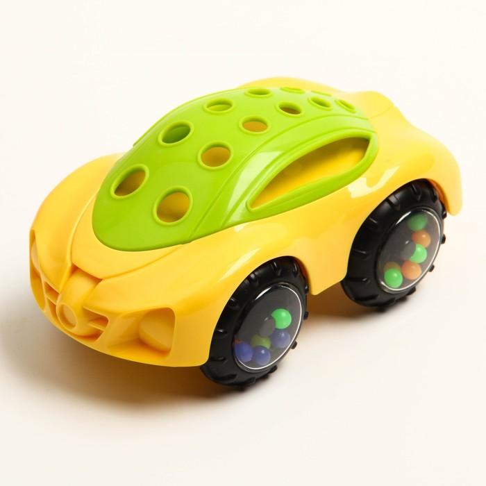 Погремушка «Машинка № 7», с эластичными деталями - фото 687073536