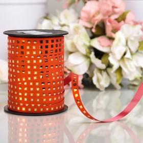 Лента декоративная BOSTON reflex, оранжевая, 10 мм х 150 м