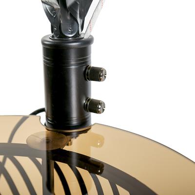 Светильник напольный со столиком и часами LED «Акито», Е27, 3 × 40 Вт, чёрный, 164 × 71 × 43 см