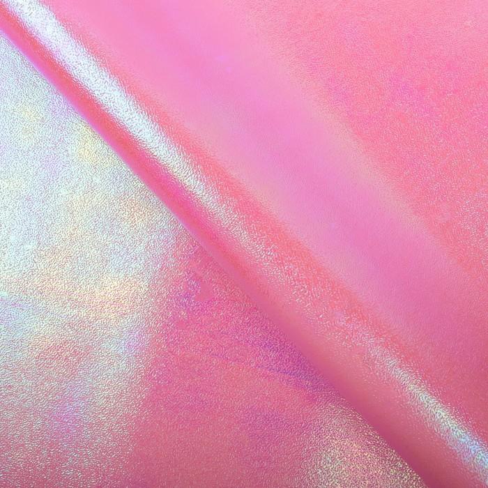 Бумага упаковочная фольгированная с перламутром, цвет розовый