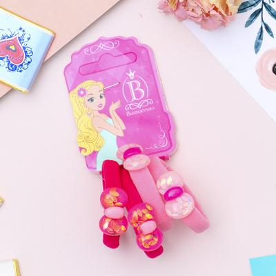 """Резинка для волос """"Перламутр"""" бантики (цена за штуку) розовый, малиновый"""