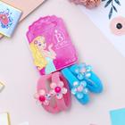 """Резинка для волос """"Перламутр"""" цветочки (цена за штуку) голубой, розовый"""