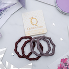 "Elastic hair band ""Twist"" (price per piece) gray and brown"