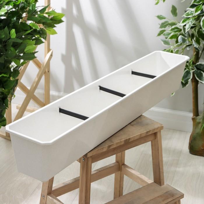 Ящик балконный 100 см, цвет мраморный