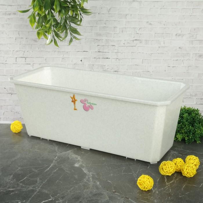 Ящик балконный 40 см, цвет мраморный