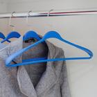 Вешалка-плечики гладкие, размер 44-46, цвет синий