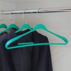 Вешалка-плечики гладкие, размер 44-46, цвет зелёный