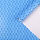 """Бумага для декорирования """"Наппа"""", синий, 0,7 х 2 м"""