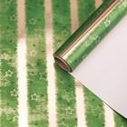 """Бумага для декорирования """"Комета"""", металлизированная, зелёный, 0,7 х 10 м"""