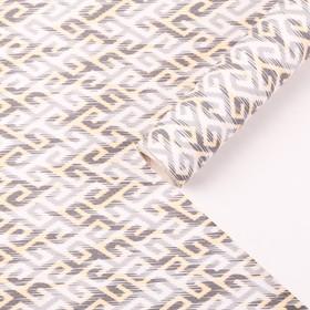 "Бумага для декорирования, ""Скандинавский узор"", серо-бежевый, 0,7 х 10 м"