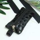 Ключница, отдел на молнии, металлическое кольцо, цвет чёрный