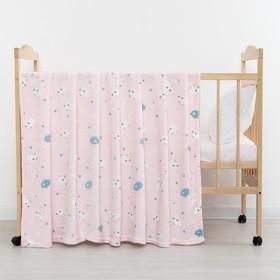 Плед «Барашки» цвет розовый 75×105 см, корал-флис, 230 г/м², 100% пэ Ош