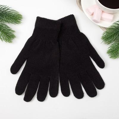Перчатки женские термо пт1512 цвет чёрный, р-р 18-20