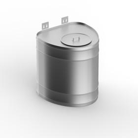 """Бак для теплообменника 60 л, вертикальный, нержавейка 0.8 мм (штуцер 3/4"""")"""