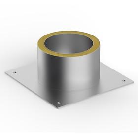 Декоративный ППУ, d 130 мм, тёплый, нерж/оцинк, круглый
