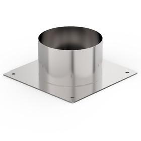 Декоративный ППУ, d 100 мм, холодный, нерж/оцинк, круглый