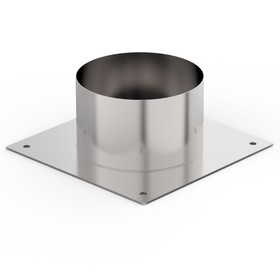 Декоративный ППУ, d 150 мм, холодный, нерж/оцинк, круглый