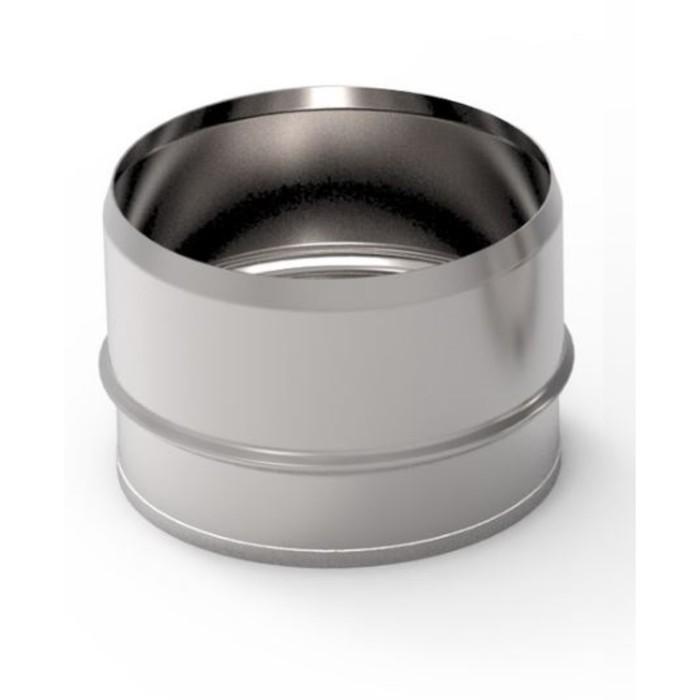 Заглушка глухая, d 80 мм, нержавейка, внутренняя