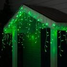 "Гирлянда ""Бахрома"" уличная, УМС, 3 х 0.6 м, 3W LED(IP65-O)-160-220V, свечение зелёное"