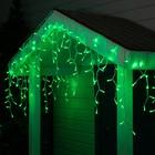 """Гирлянда """"Бахрома"""" уличная, УМС, 3 х 0.6 м, 2W Каучук LED(IP65)-160-220V, свечение зелёное"""