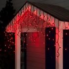 """Гирлянда """"Бахрома"""" уличная, УМС, 3 х 0.6 м, 2W Каучук LED(IP65)-160-220V, свечение красное"""