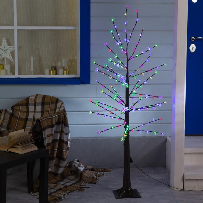 """Дерево светодиодное улич. 1,2 м. """"Ромашки"""", 160 LED, 220 В, RG/RB"""