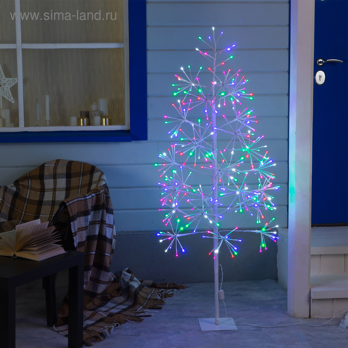 """Дерево светодиодное уличное """"Елка"""", 1,5 м, 324 LED, 220 В, эффект мерцания, МУЛЬТИ"""