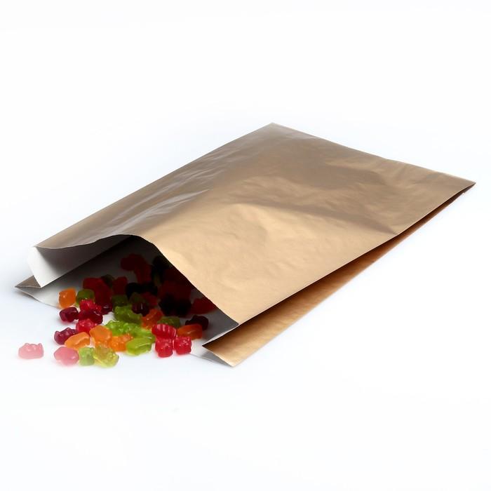 Пакет подарочный, металлизированный, цвет медный, 25 х 7 х 40 см - фото 308289729