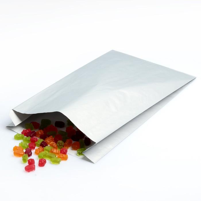 Пакет подарочный, металлизированный, серебро, 25 х 7 х 40 см - фото 308289732