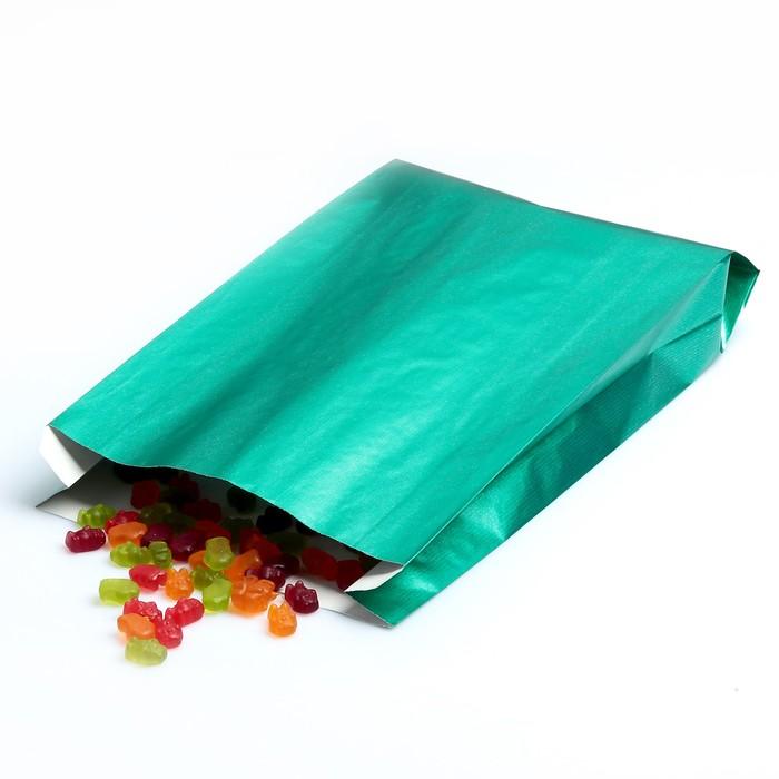 Пакет подарочный, металлизированный, зелёный, 25 х 7 х 40 см - фото 180064462