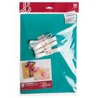 Набор для упаковки, виридан-металлик - крафт, 0,7 х 1 м х 2, лента 15 мм х 3 м х 4 микс