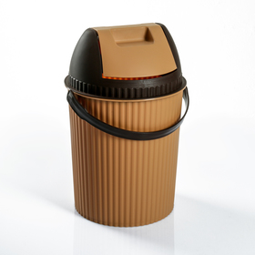 "Ведро для мусора 7 л ""Solano"", цвет какао/шоколад"