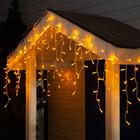"Гирлянда ""Бахрома"" уличная, УМС, 3 х 0.6 м, 3W LED(IP65-O)-160-220V, свечение жёлтое"