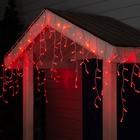 "Гирлянда ""Бахрома"" уличная, УМС, 3 х 0.6 м, 3W LED(IP65-O)-160-220V, свечение красное"