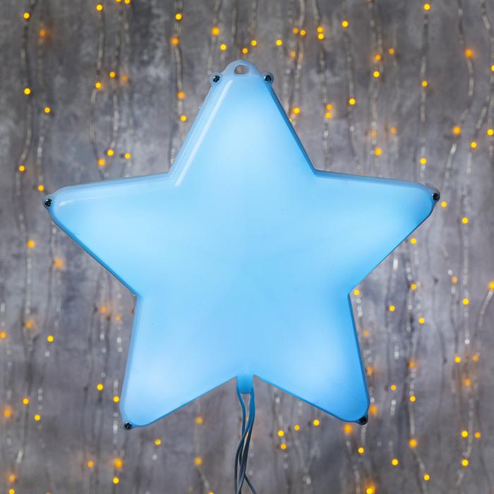 """Фигура """"Звезда белая ёлочная"""", 20Х20 см, пластик, 3 метра провод, 8 режимов, RGB"""