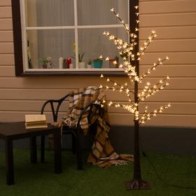 "Дерево светодиодное 1.2 м, ""Ромашки"", 160 LED, 220 В, Т/БЕЛЫЙ"