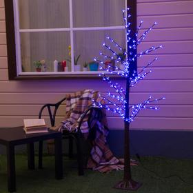 """Дерево светодиодное 1.2 м, """"Ромашки"""", 160 LED, 220 В, СИНИЙ"""