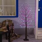 Дерево светодиодное уличное, 1,5 м, 224 LED, 220 В, эффект мерцания, РОЗОВЫЙ