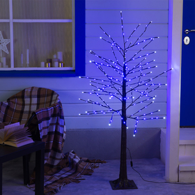 Дерево светодиодное 1.5 м, 224LED, 220V, эффект мерцания, СИНИЙ