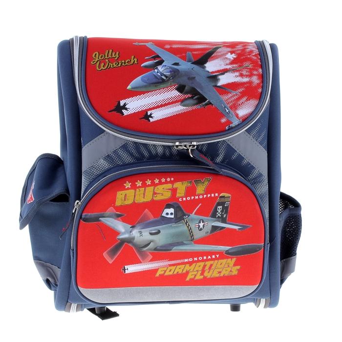 Ранец стандарт раскладной Disney Planes 35*31*14 EVA-спинкой, для мальчика