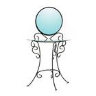 Стол 431-02 (стекло) с зеркалом