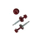 Саморезы кровельные OMAX, 4.8х35 мм, сверло, винно-красный RAL 3005, 250 шт.