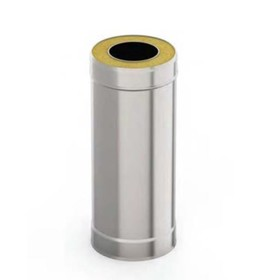 Сэндвич-труба 0.5 м, d 115 × 200 мм, нерж/оцинк, 0.5 мм/0.5 мм