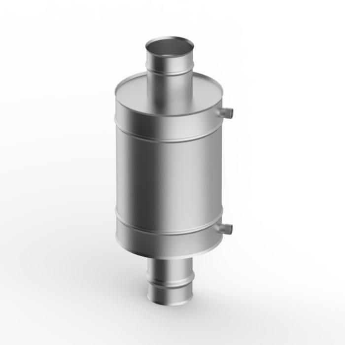 Теплообменник 7 л, d 130 мм, нержавейка 0.8 мм