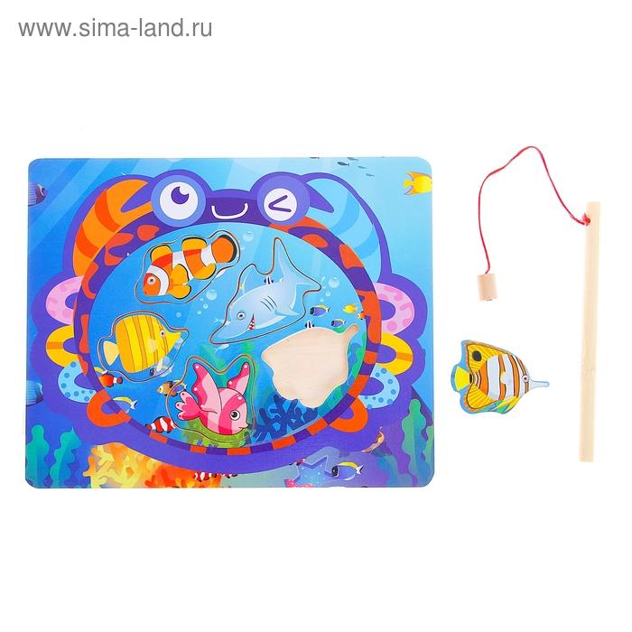 """Рыбалка квадратная """"Морские глубины"""", 5 элементов + удочка"""
