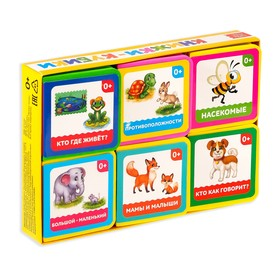 """A set of EVA books """"I learn the world"""", 6 PCs, 12 pages"""