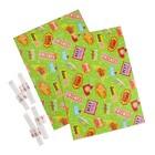 """Набор для упаковки, """"Вечеринка"""", крафт 0,7 х 1 м х 2, лента 15 мм х 3 м х 4"""