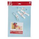 Набор для упаковки, голубой, крафт 0,7 х 1 м х 2, лента 15 мм х 3 м х 4
