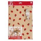 Набор для упаковки, Ladybird, два крафт листа 0,7 х 1 м, лента декоративная 25 мм х 5 м