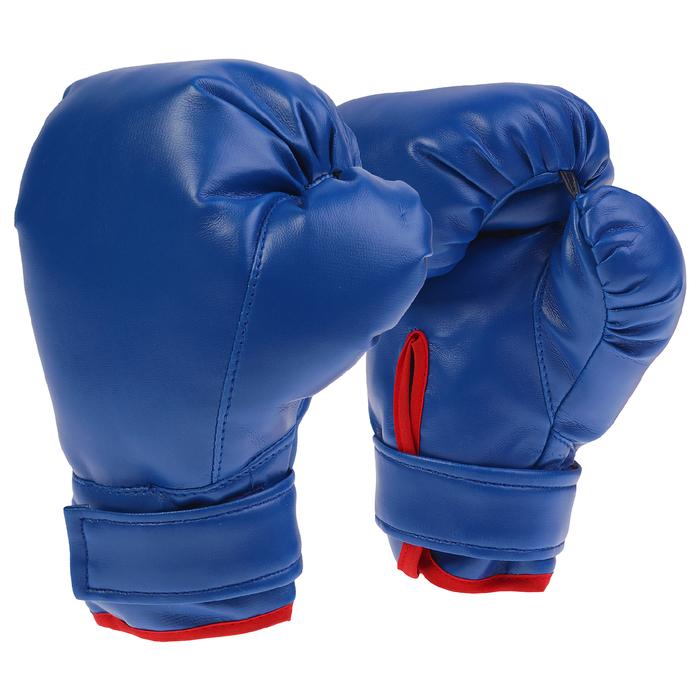 Перчатки боксерские, детские, любительские, цвет синий
